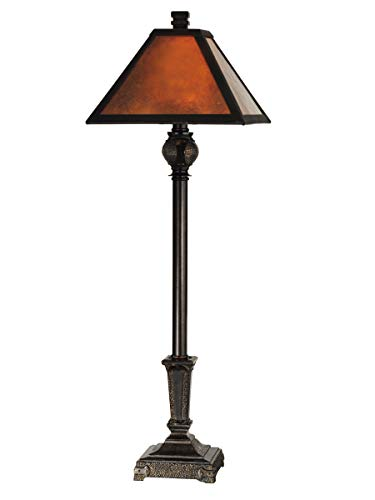Dale Tiffany TB11012 Mica Buffet Table Lamp, Fieldstone