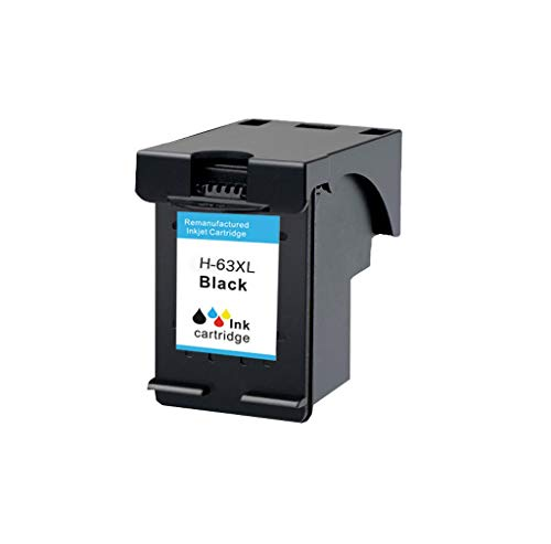Compatible con los Cartuchos de Tinta para HP 63XL Officejet 2130 3630 3830 4520 4650 Impresora de inyección de Tinta en Color,Negro