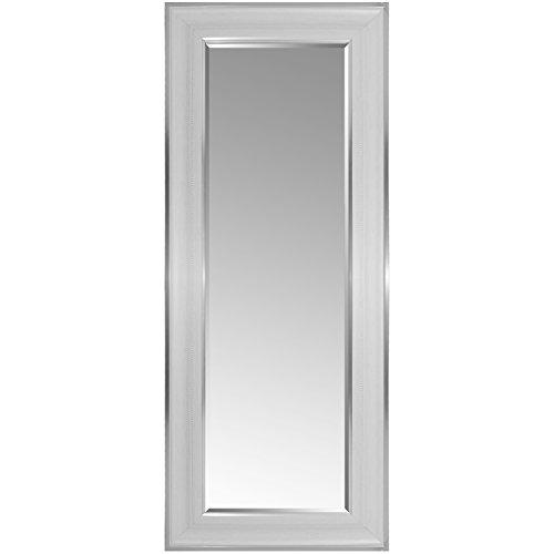 Multistore 2002 Wandspiegel mit Facettenschliff und Verzierungen 170x70cm Silberweiß Hängespiegel Flurspiegel Ganzkörperspiegel Spiegel