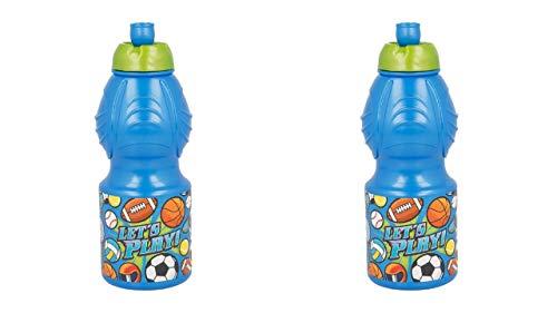 2745; Pack 2 Flessen sport sporten; Flessen water met een inhoud van 400 ml, elke fles; plastic product; herbruikbaar; Geen BPA