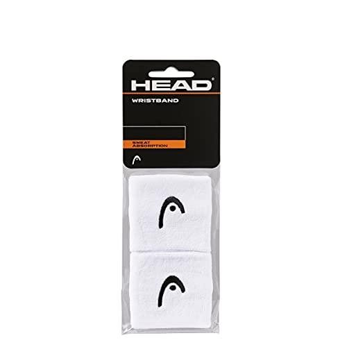"""HEAD Polsino da 2.5"""", Accessori Tennis Unisex Adulto, Bianco, taglia unica"""