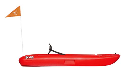 Pelican solo 6 feet sit-on-top youth kayak |pelican kids kayak|perfect for kids comes with kayak accessories 4 designed with an open cockpit, molded carrying handle for easy carrying, this lightweight kayak provides is the perfect first watercraft for your young ones. The twin tunnel makes it easily maneuverable and provides ultra stability which allows quick mastering of the kayak. This self-bailing sit-on kayak has a maximum capacity of 100 lb. / 45, 4 kg. Has a swim-up rear deck with a handle so you can easily board the kayak from the water.