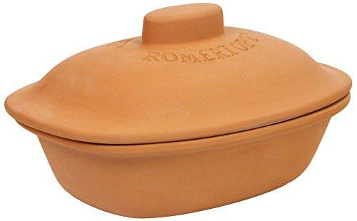 Reston Lloyd Pot Romertopf Trend Series Glazed Clay Cooker, 3.1 Quart, 4.1, Tan