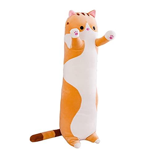 La almohada linda de abrazo para adultos, animales de felpa gigantes, gatos de felpa lindos se pueden dar a los niños como regalos, y también son almohadas lindas. ( Color : Orange , Size : 150cm )