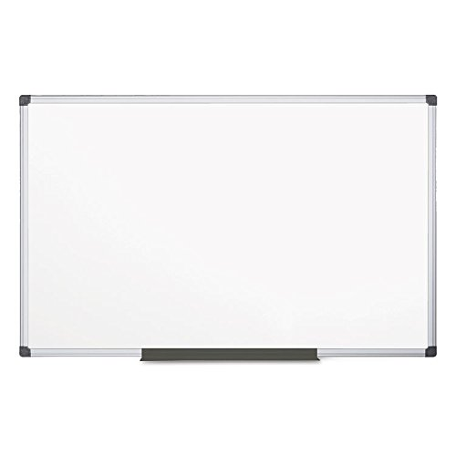 MasterVision MA2107170 Value Lacquered Steel Magnetic Dry Erase Board 48 x 96, White, Aluminum Frame