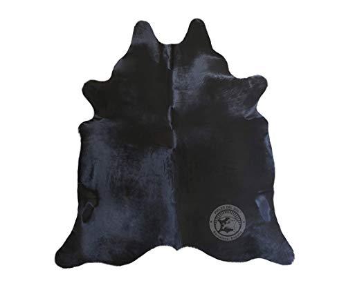 Sunshine Cowhides Teppich aus Kuhfell, Farbe: Dunkler Ton, Größe Circa 190 x 160 cm, Premium - Qualität von Pieles del Sol aus Spanien