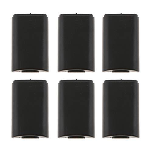 H HILABEE 6tlg Akkufach Abdeckung Batterie Deckel Cover Batterieabdeckung für Xbox 360 Slim Wireless Controller