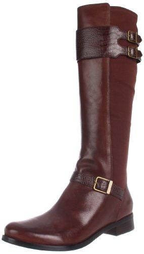 Cole Haan Women's Tennley Buckle Knee-High Boot, Chestnut, 6 B US