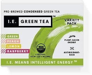 I.E. Green Tea - Caffeinated Natural Green Tea Variety Pack - 8 Pack Box