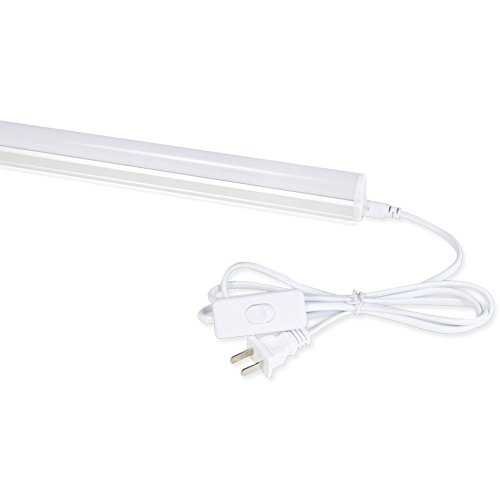 Barrina LED T5 Integrated Single Fixture, 4FT, 2200lm, 6500K (Super Bright White), 20W, Utility Shop Light, Ceiling and Under Cabinet Light, Grow Light with Built-in ON/Off Switch
