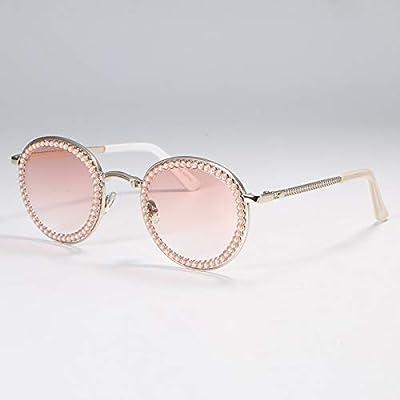 NSYJDSP Perle Runde Sonnenbrille