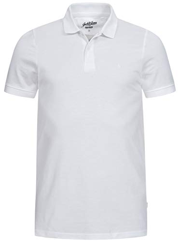 Jack & Jones Jjebasic Polo SS Noos - Camiseta para Hombre, Blanco , Talla M