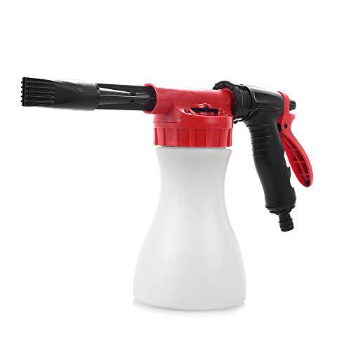 Laveur de Voiture Haute Pression Pistolet à Eau à Mousse de Neige 800 ML Nettoyage de Voiture Pistolet à Mousse Pistolet de Lavage Savon à Eau shampooing pulvérisateur