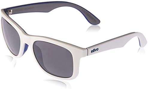 Revo Huddie RE 1000 09 GY Polarized Wayfarer Sunglasses White Blue Grey Graphite 54 mm product image