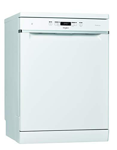 Whirlpool - Lavavajillas WFC 3C34 AP X 60 cm blanco, tecnología power clean, 44dBA, 14 cubiertos, eficiencia NEL D