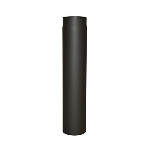 Ofenrohr Senotherm® 2 mm Ø 150 mm hitzebeständig lackiert, gerade - Rauchrohr, Kaminrohr schwarz - für Pellettofen und Kamine - Länge: 750 mm