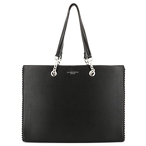 Borsa a mano da donna, con catene, con perle e sfere, in similpelle goffrata, borsa per lavoro, formato A4, borsa a tracolla grande capacità, classica, alla moda