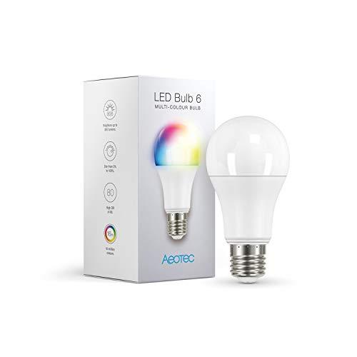 Aeotec 4344 LED Bulb 6, Z-Wave Plus rgbw-Lampadina & Cambia, Dimmbar, 9 W, ersetzt 60 Watt, Lampe, E27, small