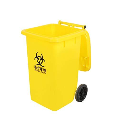 Fantastic Deal! LXF Outdoor Waste Bins Plastic Sanitation Trash can with Wheel Storage bin bin 15L/2...