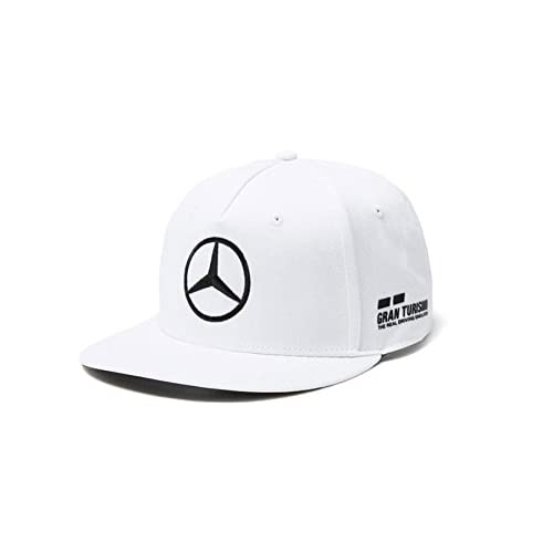 Amazon.com: Mercedes AMG F1 Team Driver Puma Hamilton Flat Peak Cap White Official 2018: Sports & Outdoors