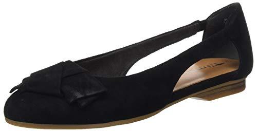 Tamaris Damen 1-1-22106-24 Geschlossene Ballerinas, Schwarz (Black 1), 39 EU