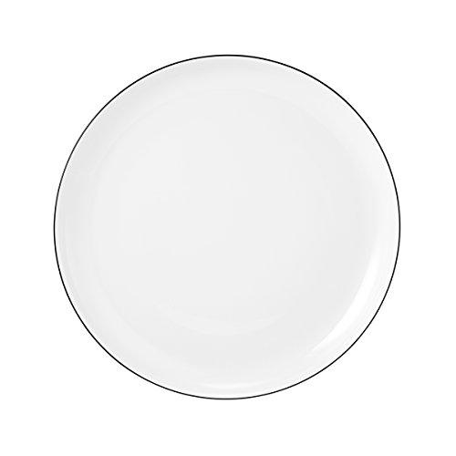 Seltmann Weiden 001.737142 Lido Black Line Frühstücksteller, rund, weiß, 20 cm