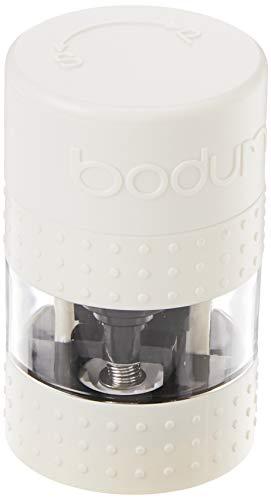 Bodum - Macina sale e pepe stile bistrò, plastica, Bianco, 6.9 x 6.9 x 11.3 cm