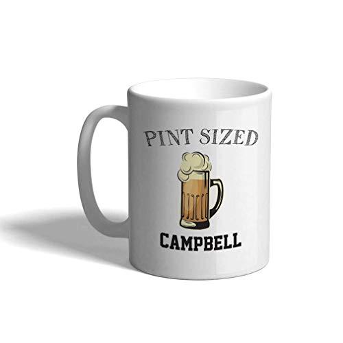 Taza de café personalizada de cerámica 11 onzas de cerveza de tamaño de pinta para beber cerveza de taza de té blanco