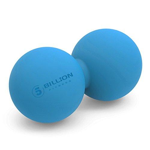 5BILLION Pelota Masaje Double Masaje Ball - Pelota Lacrosse & Balon Fitness para Liberación Miofascial & Masaje Muscular - Herramienta de Masaje de Alta Densidad para Cross Fitness (azul)