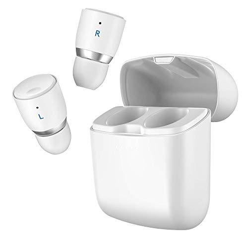 Cambridge Audio Melomania 1+ True Wireless Earbuds - Bluetooth 5.0, Sonido Hi-Fi, Auriculares intrauditivos para iPhone y Android con Estuche de Carga y Control de la aplicación (Blanco)