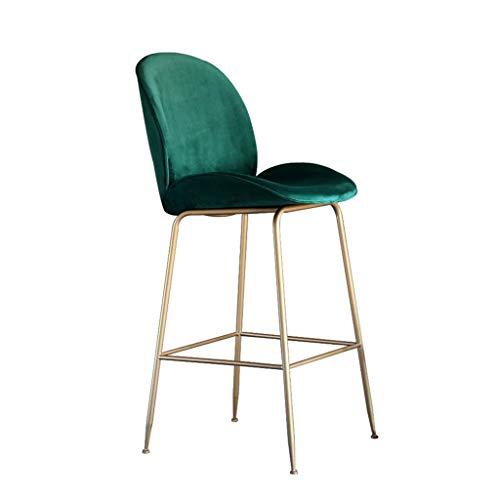 Dossier Tabouret de bar Chaise de bar en fer forgé Accueil décontracté Tabouret haut Tabouret de thé Chaise de salle à manger