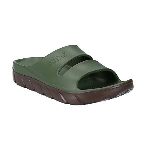 [エドウィン] サンダル メンズ EW5200 ブラック ネイビー カーキ グレー 25.0cm〜28.0cm 軽量 幅広 リゾート シャワー サンダル 紳士 靴 カーキ 27.0cm