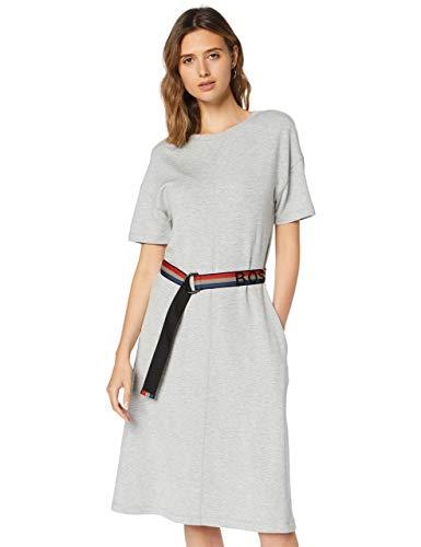 BOSS Damen Debelt Kleid, Silber (Silver 040), Large (Herstellergröße: L)