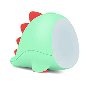 oUUoNNo Little Dinosaur Night Light for Baby Transform Between Warm White and White Sleep Timer Setting for Children Adults Bedside and Nursery Cute LED Lamps for Toddler and Kids Bedroom