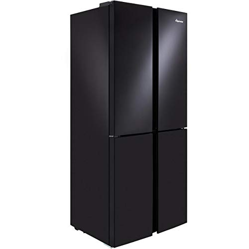 Fridgemaster MQ79394FFB 394 Litre American Style Fridge Freezer Frost Free 4 Door 79cm Wide – Black