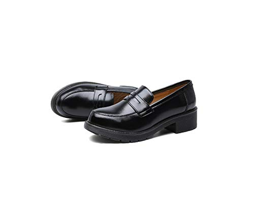 GAO-bo Women's Girl's Low Top Japanese Students Maid Uniform Dress Shoes,for Every Occasion (Color : Black, Size : 39)