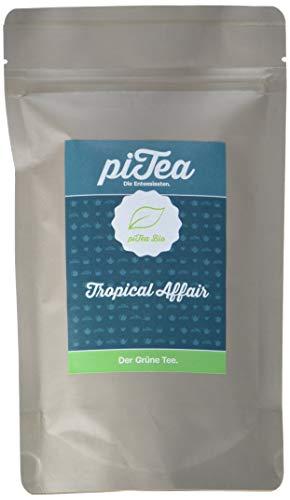 Pi Tea Tropical Affair Tüte, Grüner Tee, Bio, natürlich und vegan, 2er Pack (2 x 75 g)