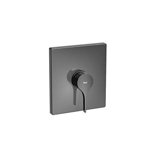 Mezclador grifo monomando empotrable para ducha, serie Insignia, 21,5 x 6,5 x 14 centímetros, color negro titanio (Referencia: A5A2B3ACN0)