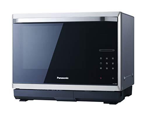 Panasonic Four Micro-ondes combiné vapeur, NN-CS894SEPG 32 L, Micro-Ondes Inverter 1000 W, Gril à Quartz 1200 W, Four à chaleur tournante 100-220°C, Vapeur 1000 W, Plateau Fixe, 23 Programmes Auto