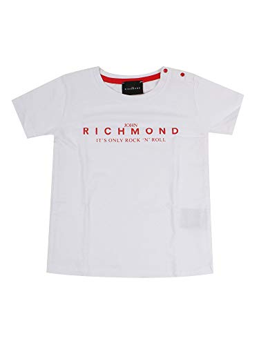 John Richmond Junior - Camiseta unisex blanca, modelo RIP20033TS, mod. RIP20033TS Bianco 95 cm
