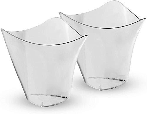 Mini vasos de postre reutilizables de plástico  Vasos pequeños transparentes para bagatela yjalea  Platos de postre  Vasos de plástico pequeños