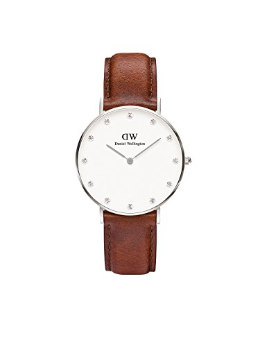 Daniel Wellington Damen Analog Quarz Uhr mit Leder Armband DW00100079
