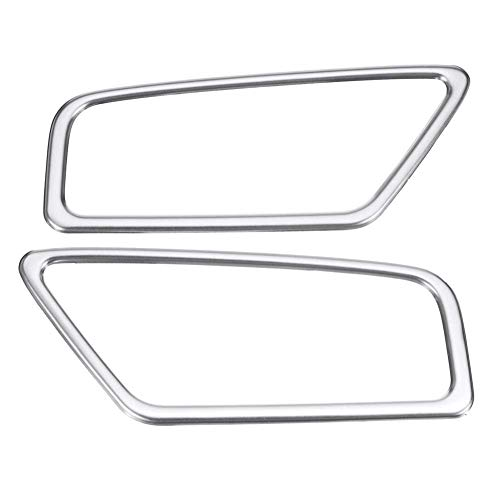 Car Dashboard Air Outlet Vent Cover Trim Frame Sticker,for Geely Atlas Boyue Emgrand NL-3 Proton X70 2017 2018 2019 (plata)