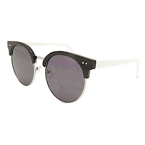 Hoogwaardige zonnebril Classic Rocky Clubmaster 400UV platte ronde glazen