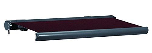 Jet-line Vollkassettenmarkise Sunshade 5x3 m anthrazit Bordeaux Markise Motor Vollkasetten Aluminium Sonnenschutz UV 50 Markisen 5m