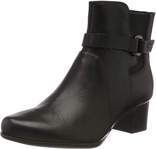 Clarks Un Damson Mid, Botines Mujer, Negro (Black Leather Black Leather), 37 EU