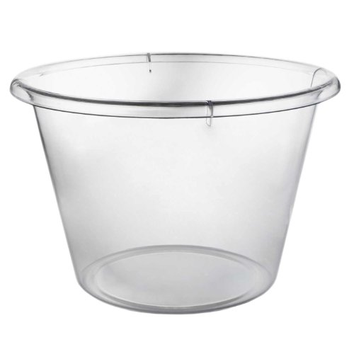 Party Essentials N12321 Plastic Extra-Large Ice Bucket, 10 qt Capacity, Clear (Case of 3)