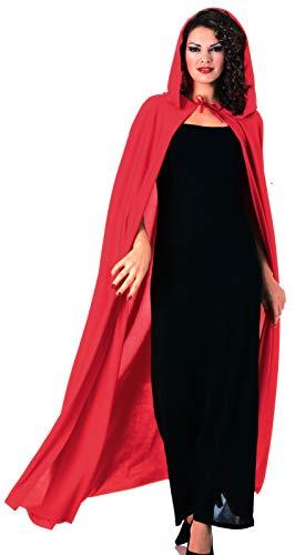 Rubie' s ufficiale full lunghezza con cappuccio mantello rosso vampiro strega–Adulti (taglia unica)