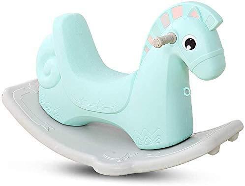 Aaedrag Hohe Qualität Schaukelpferd Trojan Shaker Spielzeug Baby-Plastik Große Thick Dual-Use 1-6 Jahre alt with Music (Color : Green)