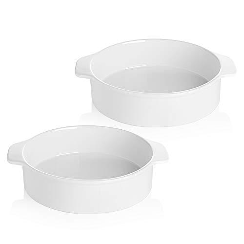 Sweese 524.201 8 Inch Round Cake Pan, Non-stick Baking Pan Set of 2, White